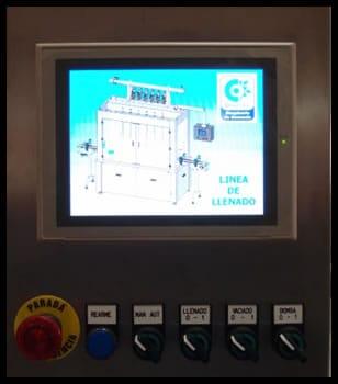 panel control envasadora lineal