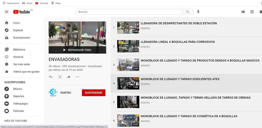 canal youtube dositec