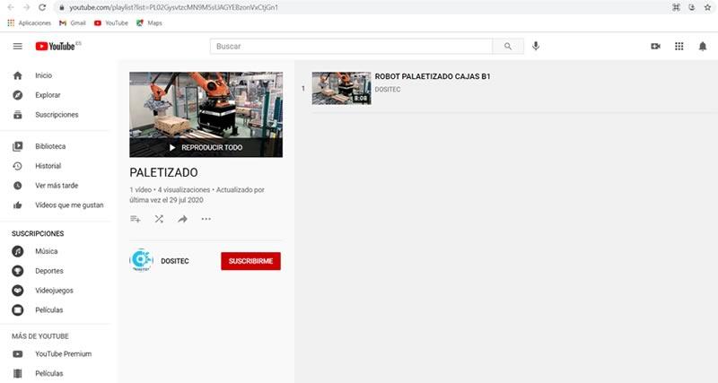 youtube paletizacion de mercancias